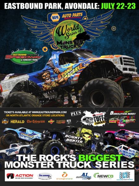 2017 NAPA AUTO PARTS World Series of Monster Trucks: 2017 NAPA AUTO PARTS World Series of Monster Trucks at Eastbound Park Sat Jul 22 2017 at 1:00 pm